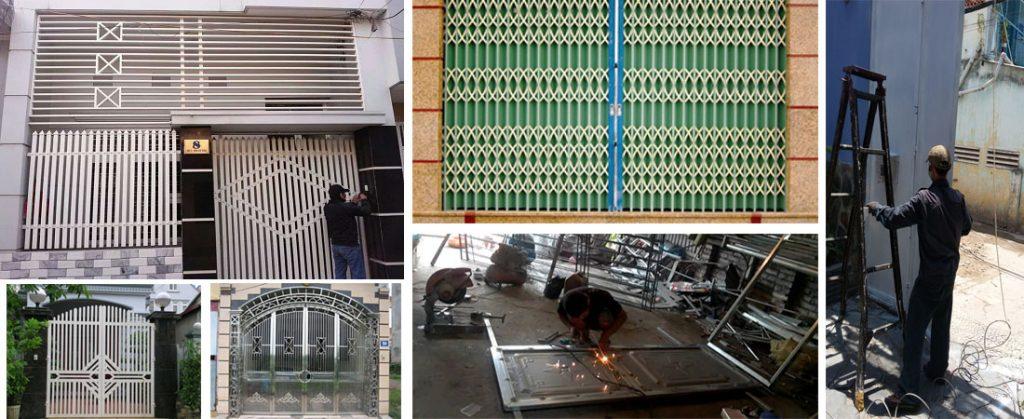 Sửa cửa sắt tại nhà đẹp nhất Sài Gòn.